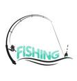 fishing sport design vector image vector image
