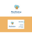 flat cloud trash logo and visiting card template vector image