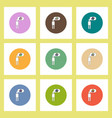 flat icons set of man silhouette thinking about vector image vector image