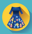 flower dress icon vector image vector image