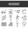 Garden icons set vector image vector image