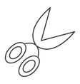 garden scissors line icon sig vector image