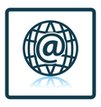 Global e-mail icon vector image vector image