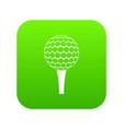 golf ball on a tee icon digital green vector image vector image