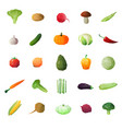 greengrocery ripe fruits set vector image vector image