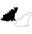 guernsey island map vector image