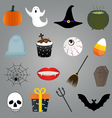 Halloween Items Set vector image