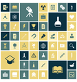 Icons for education science and medical vector image vector image