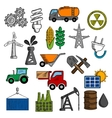 Industry and energy icons set vector image