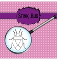 insect in magnifiershield bug Palomena prasina vector image vector image