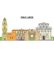 italy lecce city skyline architecture vector image vector image