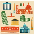 Landmarks of Italy set vector image