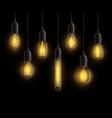 light bulbs realistic vintage edison bright vector image vector image