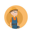man worker construction builder cartoon vector image vector image