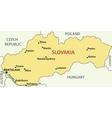 map - slovak republic vector image vector image