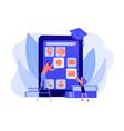 mobile app development courses concept vector image vector image