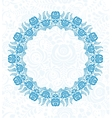 Ornate floral frame in Russian style Gzhel vector image vector image