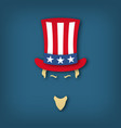 portrait of uncle sam in paper cut style national vector image vector image