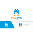 real estate and wifi logo combination house vector image