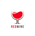 red wine logo template vector image vector image