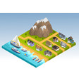 sea line isometric composition vector image vector image