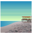Seaside Home Background vector image