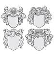 set of aristocratic emblems No5 vector image
