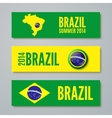 Set of Brazil concept color banners vector image vector image