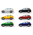 set of luxury crossover vehicles in a variety of vector image vector image