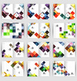 set of square geometrical business brochure vector image vector image