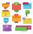 Set of web elements Labels tags banners vector image