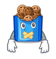 silent fried falafel served at the mascot vector image vector image