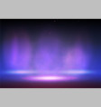 smoke on the stage with lights vector image vector image