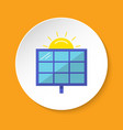 solar panel icon in flat style on round button vector image vector image