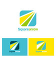 square arrow logo vector image vector image