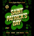 st patricks day party poster design template 17 vector image vector image
