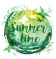 summer watercolor abstract background vector image vector image