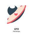 ufo flat vector image