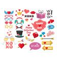 valentines day photo booth props party decoration vector image