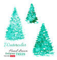 watercolor evergreen trees vector image vector image