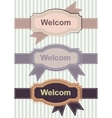 Welcom Retro Banners vector image vector image