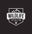 wilderness expedition template design vector image vector image