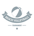 beach volleyball logo simple gray style vector image