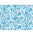 Blue floral textile seamless pattern in gzhel vector image