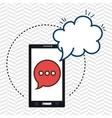 smartphone cloud chat speak vector image