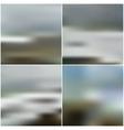 blurred backgrounds set with sea landscape vector image