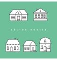 Houses set Isolated elements for design vector image