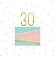 Cake Birthday Card vector image