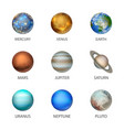 3d realistic space planet icon set isolated vector image