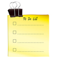 A note for to do list vector image vector image